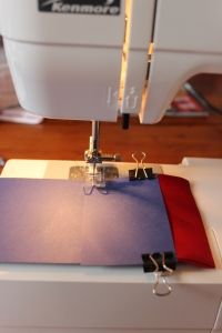 remove the clips as you sew the card