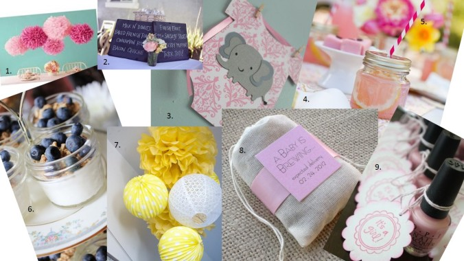 Baby Shower Style Board