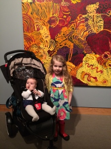 Right after this was taken the strolled was kicked into the gorgeous painting behind it.  Umm...Shit.