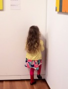 No big deal just having a timeout in an art museum, complete with a foot stomp.