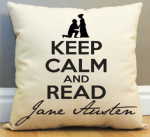 Keep Calm and Read Jane Austen Pillow