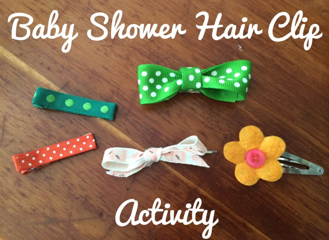 Baby Shower Hair Clip Activity