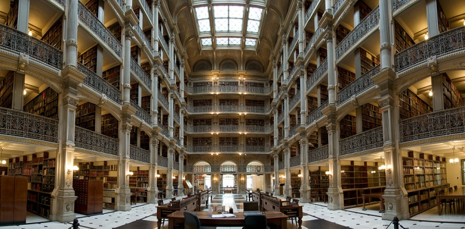 George Peabody Library at Johns Hopkins University Baltimore, Maryland