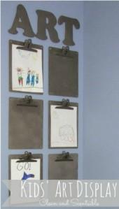 Clipboards-for-kids-art-21-Ways-to-Display-Kids-Artwork