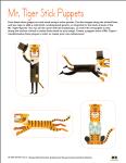 Mr. Tiger Stick Puppets